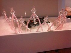 Tiara cristales rosas