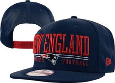 New England Patriots Navy/Red New Era 9FIFTY Lateral Snapback Hat by New Era. $29.99. Embroidered team design. Officially licensed. Lateral Snapback Hat. Eyelet vents. Six panel construction. Add this stylish Adjustable Hats to your collection of gameday gear for a stylish way to support your team! Features embroidered team design and snapback for a personalized fit.