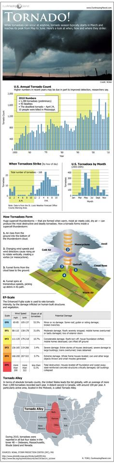 Tornado Infographic - all kinds of helpful and interesting information here!