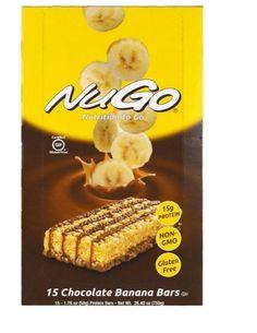 Chocolate Banana Bars 15 1.76 oz Box Protein Gluten Free Fruit Nut Snack Healthy #NuGoNutrition