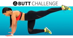 Sculpt and tone your booty in just 30 days with this workout routine you can do anywhere.