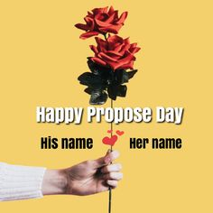 Happy Propose Day 8th February Love Greeting With Name
