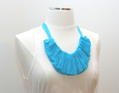 DIY Fabric Statement Necklace | A Beautiful Mess