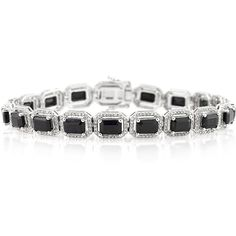 Mark Broumand 16.15ct Emerald Cut Sapphire and Diamond Bracelet ($4,995) ❤ liked on Polyvore featuring jewelry, bracelets, white, mark broumand, diamond bangles, white diamond jewelry, white sapphire jewelry and sapphire jewellery