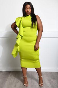 c617fa17ce75 Amber Plus Size Scuba-Knit Midi Dress Dresses+ GS-LOVE