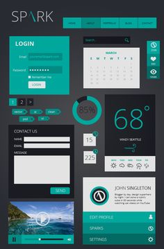 Spark - Free Flat UI Kit