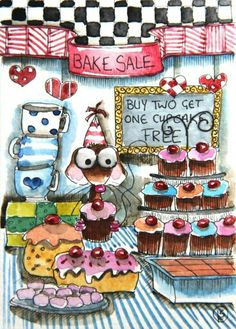 Bake sale cartoon