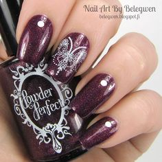 Nail Art by Belegwen: Powder Perfec Griffon <3