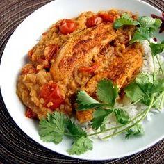 Red Lentil Chicken Stew... serve over rice!
