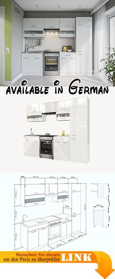 B07262YVJ8  KÜCHE RIVIERA 180 CM KÜCHENZEILE EINBAUKÜCHE - küchenblock 260 cm