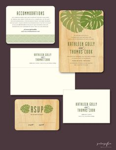 beautiful wooden invite