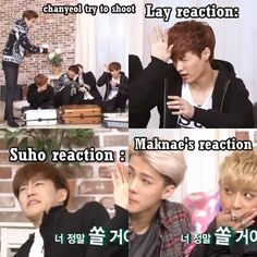 Omg suho's face tho