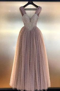 Buy Luxurious A Line V Neck Backless Blush Tulle Long Prom Dresses with Straps Beading online.Shop short long ombre prom, homecoming, bridesmaid evening dresses at Couture Candy Cocktail party dresses, formal ball gowns in ombre colors. Straps Prom Dresses, Prom Dresses For Teens, V Neck Prom Dresses, Tulle Prom Dress, Formal Dresses, Prom Gowns, Party Dresses, Blush Dresses, Tulle Lace