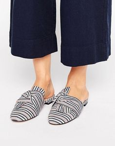 ASOS LUCKY Bow Detail Ballet Mules