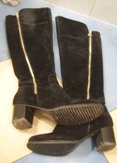 Kup mój przedmiot na #vintedpl http://www.vinted.pl/damskie-obuwie/kozaki/13154618-kozaki-kari-37-czarne-zamsz-zamki