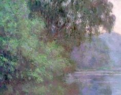 Morning by the Seine - Claude Monet - Detail