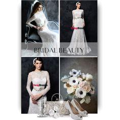 Sheath/column Full Beaded Graceful Ribbon Wedding Dress by Cheap Dressuk_11 by christiana40 on Polyvore featuring Mode, Rainbow Club and Kobelli