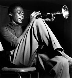 Miles Davis photographed by Francis Wolff.