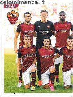 Calciatori 2015-2016: Fronte Figurina n. 443 Squadra/1 Roma