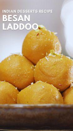 Jamun Recipe, Burfi Recipe, Fun Baking Recipes, Sweet Recipes, Cooking Recipes, Vegetarian Snacks, Healthy Desserts, Indian Dessert Recipes, Indian Sweets