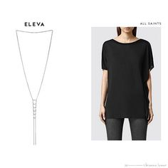 The Eleva Necklace is your versatile, everyday piece that brings an effortless sense of sexy to the perfect loose-fitting tee like this one by @AllSaintsLive  : Check out the complete Elevation Collection Style Guide at thedarklight.briannalamar.com