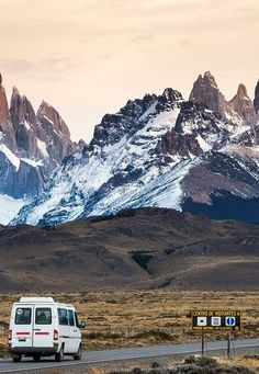 Driving to Fitz Roy, Argentina