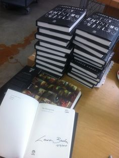 Some of the 1000 collector's editions of #TheShiningGirls signed and numbered by @Lauren Davison Beukes