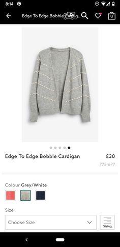 WHITE STUFF New Cream Black Pink Edge to Edge Cardigan Jacket Top 8-14 RRP=£55