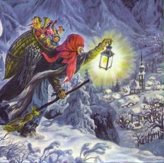 In Italian Folklore Befana Is An Old Woman Who Delivers Gifts To Children Throughout Italy On Epiphany Eve The Night Of January A Similar Way St