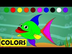 Learn Colors with Cartoon Fish | Kids Educational Videos | Learning Colours - for Children Kids - YouTube
