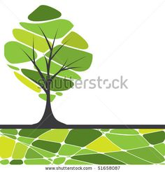stock vector : Abstract tree. vector illustration