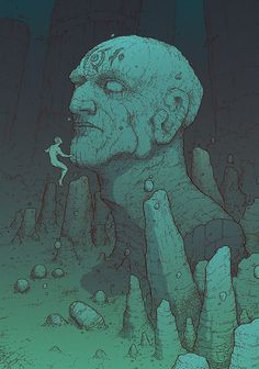 DH Pirate AU: Approaching Pandyssia by coupleofkooks on DeviantArt Fantasy Art Landscapes, Fantasy Landscape, Illustrations, Illustration Art, Nogent Sur Marne, Moebius Art, Jean Giraud, Graphic Novel Art, Environment Concept Art