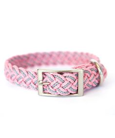 Another great find on #zulily! Kiss My Mutt Pink & Gray Dahlia Braided Collar by Kiss My Mutt #zulilyfinds