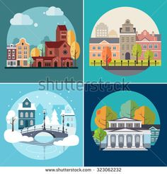 Buy City and Town Buildings Landscapes by Top_Vectors on GraphicRiver. City and town landscapes and buildings icons, flat design vector illustration Winter Breaks, Building Icon, Home Icon, Landscape Architecture, Pixel Art, Taj Mahal, Stock Photos, City, Illustration