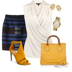 A fashion look from May 2013 featuring Coast tops, Proenza Schouler mini skirts y Theory sandals. Browse and shop related looks. Yellow Sandals, Yellow Shoes, Coast Tops, Casual Party, Hot Outfits, Office Fashion, Proenza Schouler, Theory, Womens Fashion