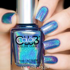 Color Club Crystal Baller Nail Polish Halo Hues Collection) from Live Love Polish. Saved to Nail Polish. Dream Nails, Love Nails, How To Do Nails, My Nails, Color Club Nail Polish, Nail Polish Art, Nail Polishes, Gorgeous Nails, Pretty Nails