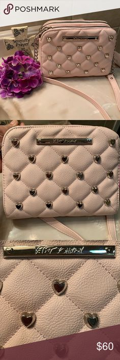 a06ead45a56e 🌸Betsy Johnson 🌸Crossbody Quilted Purse. Brand new, never been used. It's