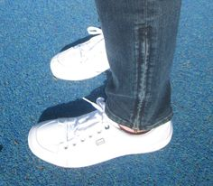 Jeans with ankle zippers