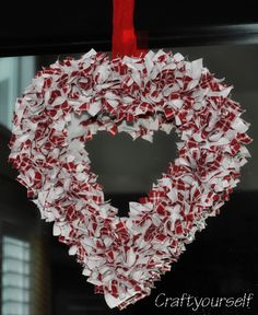 Valentines day Wreath Step by step tutorial and instructions on how to make a full hanging front door or inside wreath