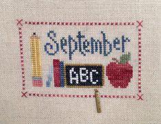 Punto de Cruz sin marco mensual septiembre
