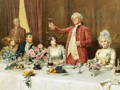 The toast by George Goodwin Kilburne, 19thC English artist (the bride does not look happy!)