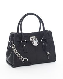 Michael Kors Satchel Handbags - MICHAEL Michael Kors Hamilton Satchel, Black - $258 - michael kors handbag sale