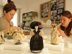 Historic Royal Palaces Conservators - Queen Victoria's collection of dolls being restored at Kensington Palace.