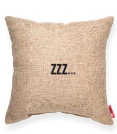 zzz... Burlap Decorative Pillow