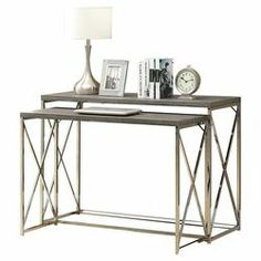 2 Piece Console Table Set in Taupe