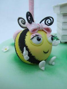 The Hive Bumble bee cake topper - Emma Jayne Cake Design