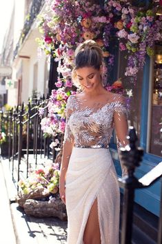Unique bridal couture MillaNova calls your attention to new luxurious dress collection. Вeautiful wedding gowns created for your happiness! Civil Wedding Dresses, Blue Wedding Dresses, Bridal Dresses, Dress Wedding, Gala Dresses, Evening Dresses, Couture Wedding Gowns, Engagement Dresses, Prom Outfits