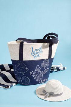 Tas met afbeeldingen van zeedieren