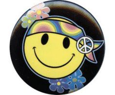 Hippie smiley face--Remember when you dressed as a hippie for Halloween one year?
