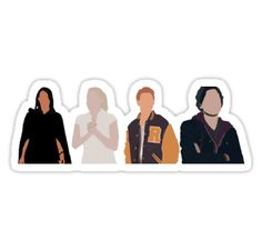 Veronica, Betty, Archie & Jughead from Riverdale, Minimalist art • Also buy this artwork on stickers, apparel, phone cases, and more.